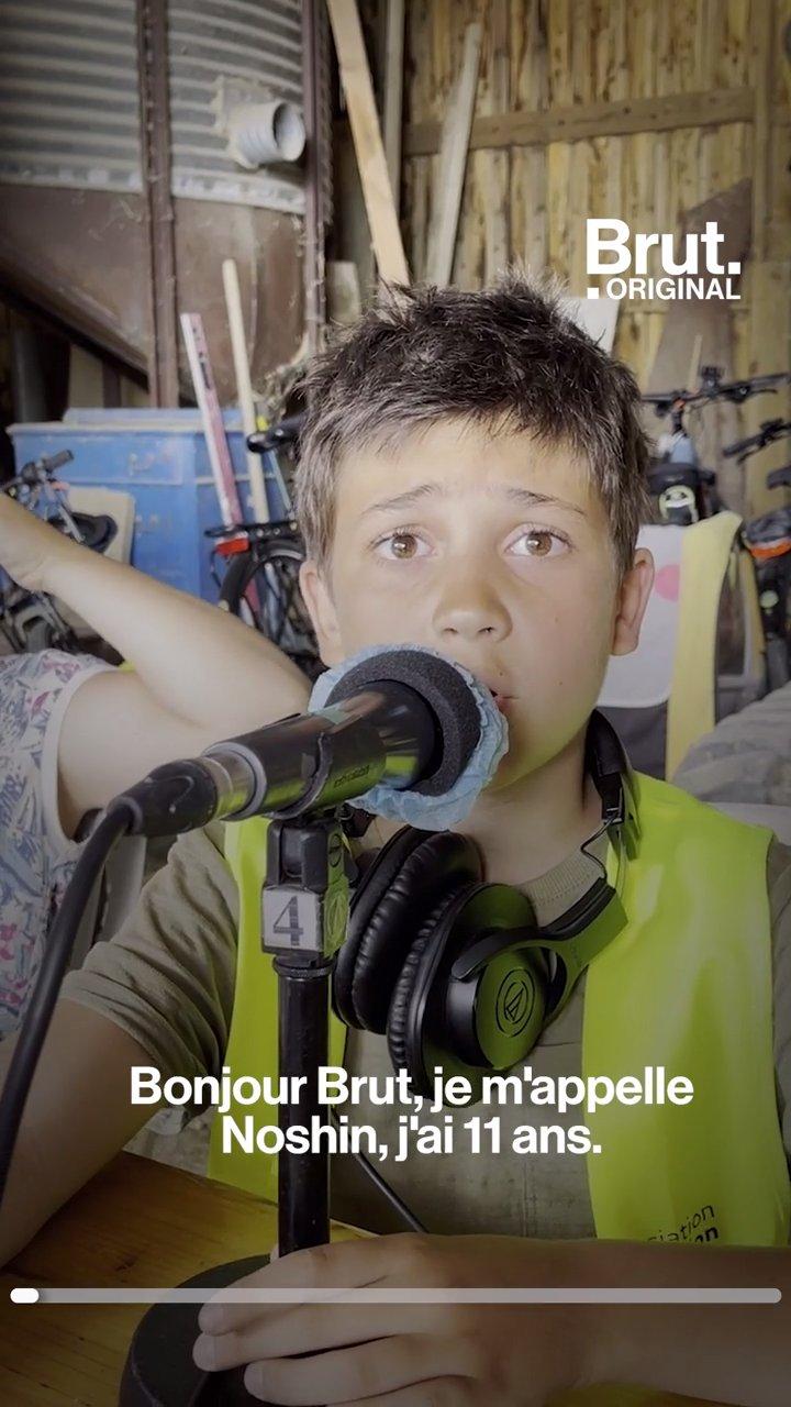 Dans la Drôme, une émission de radio itinérante animée par des enfants   Brut.