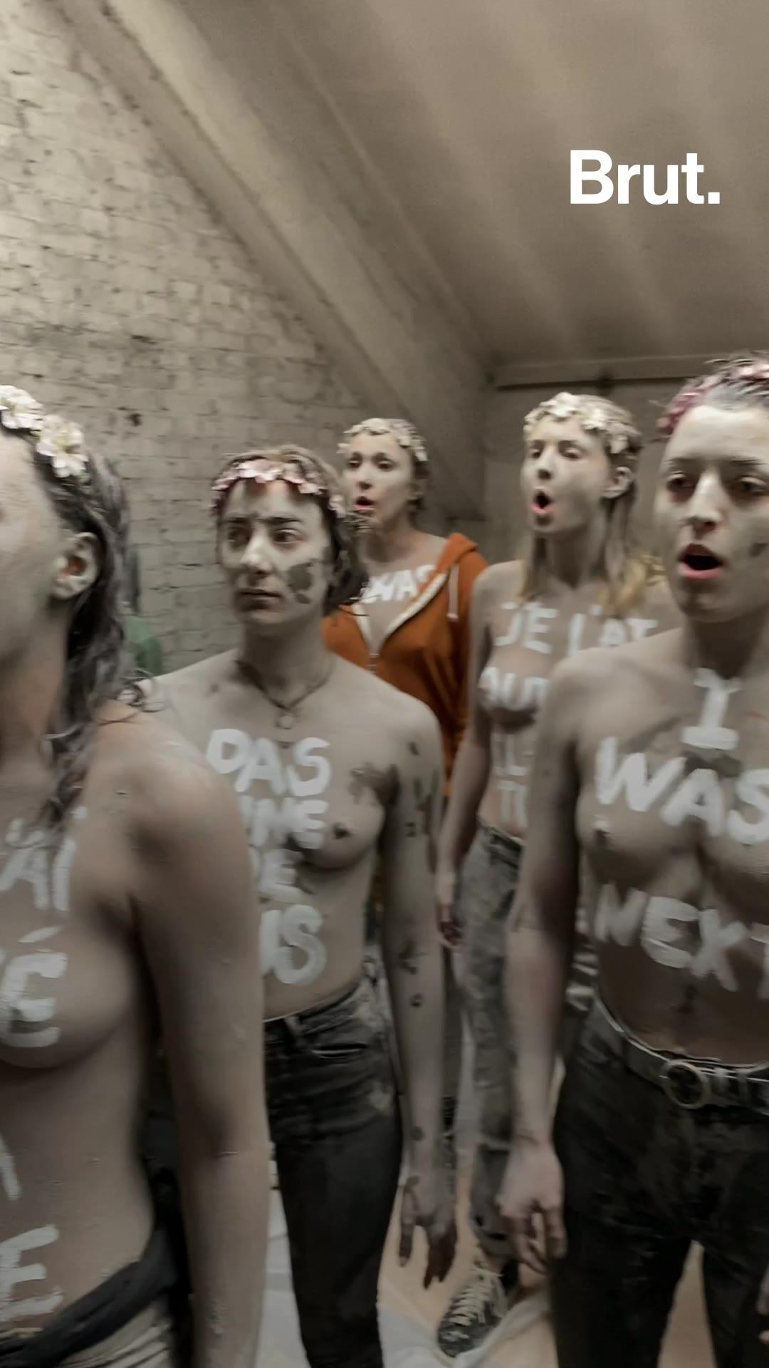 Féminicides : les coulisses de l'action choc des Femen dans un cimetière