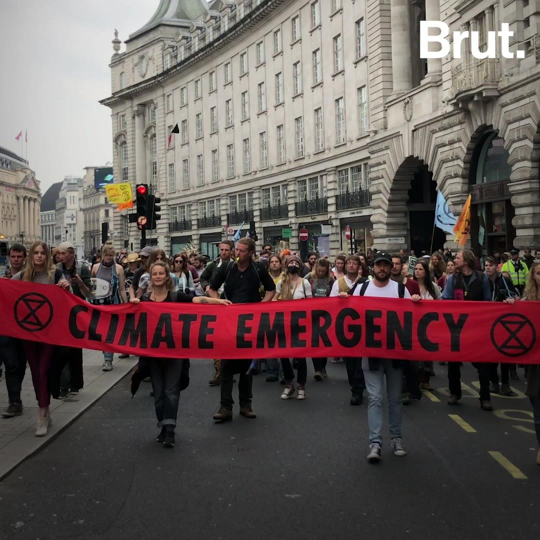 Londres : une journée d'action avec des militants d'Extinction Rebellion