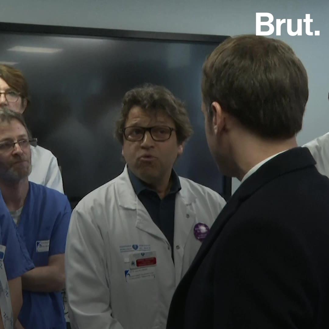 Un neurologue interpelle Emmanuel Macron sur la crise de l'hôpital public   Brut.