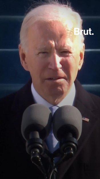 Así ha sido el primer discurso de Joe Biden como presidente