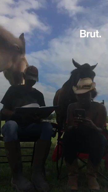 Esta joven enseña a los niños a leer con la ayuda de caballos