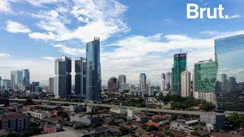 La capitale Indonésienne Jakarta sous les eaux