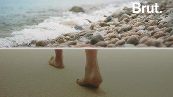 La différence entre une plage de sable et une plage de galets