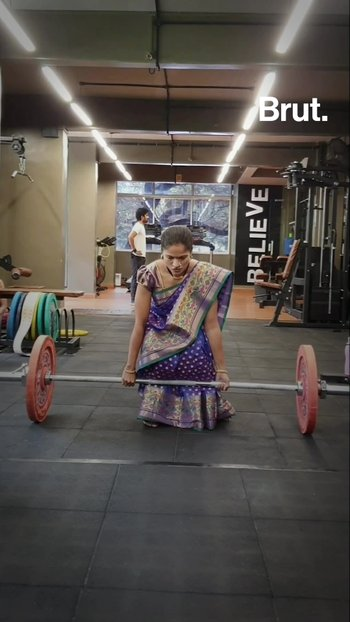 Meet The Woman Who Lifts Weights In A Sari