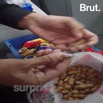 Seized: Money Inside Peanuts