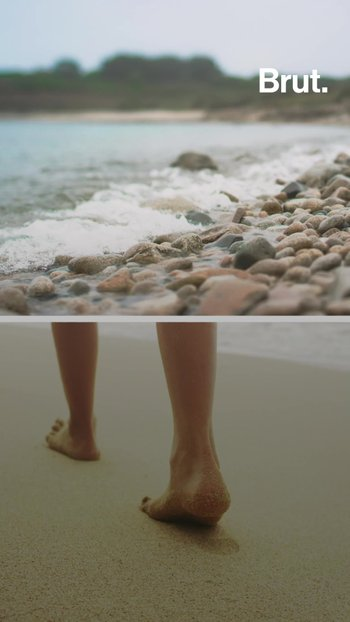 The difference between a pebble beach and a sandy beach