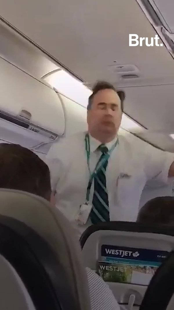 Flight Attendant's Safety Stunt Goes Viral